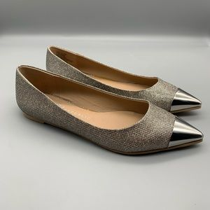 Rock and Republic Shoes Glitter Flats Silver